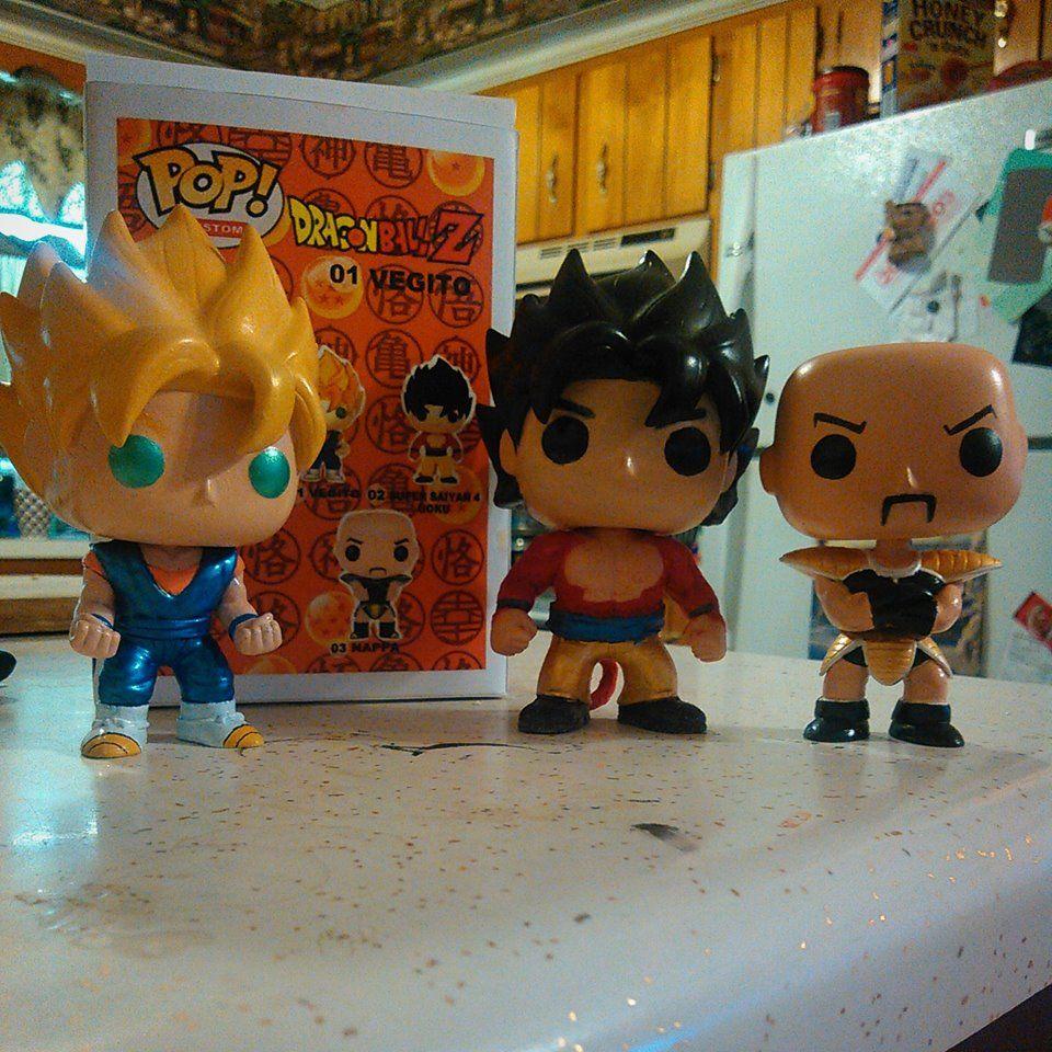 Custom Funko Pop Vegito Super Saiyan 4 Goku And Nappa By