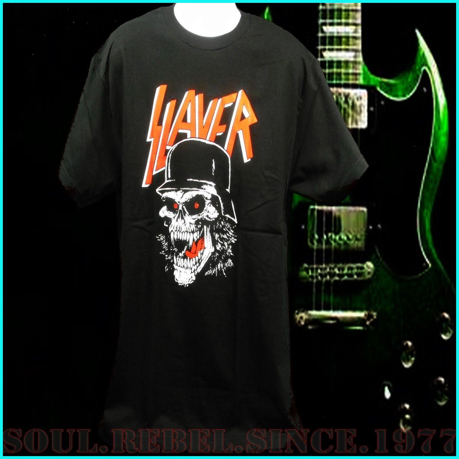 FL&AEVVE SLAYER Punk Rock Band T SHIRT men's sizes comprar camisetas de futbol baratas por ...