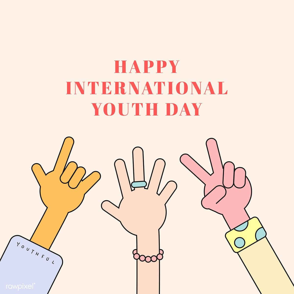 Happy International Youth Day Background Vector Free Image By
