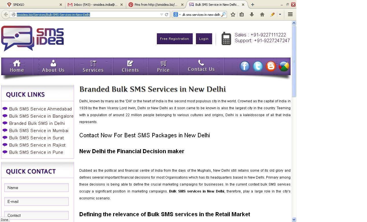 If you want genuine Bulk SMS Services in New Delhi then