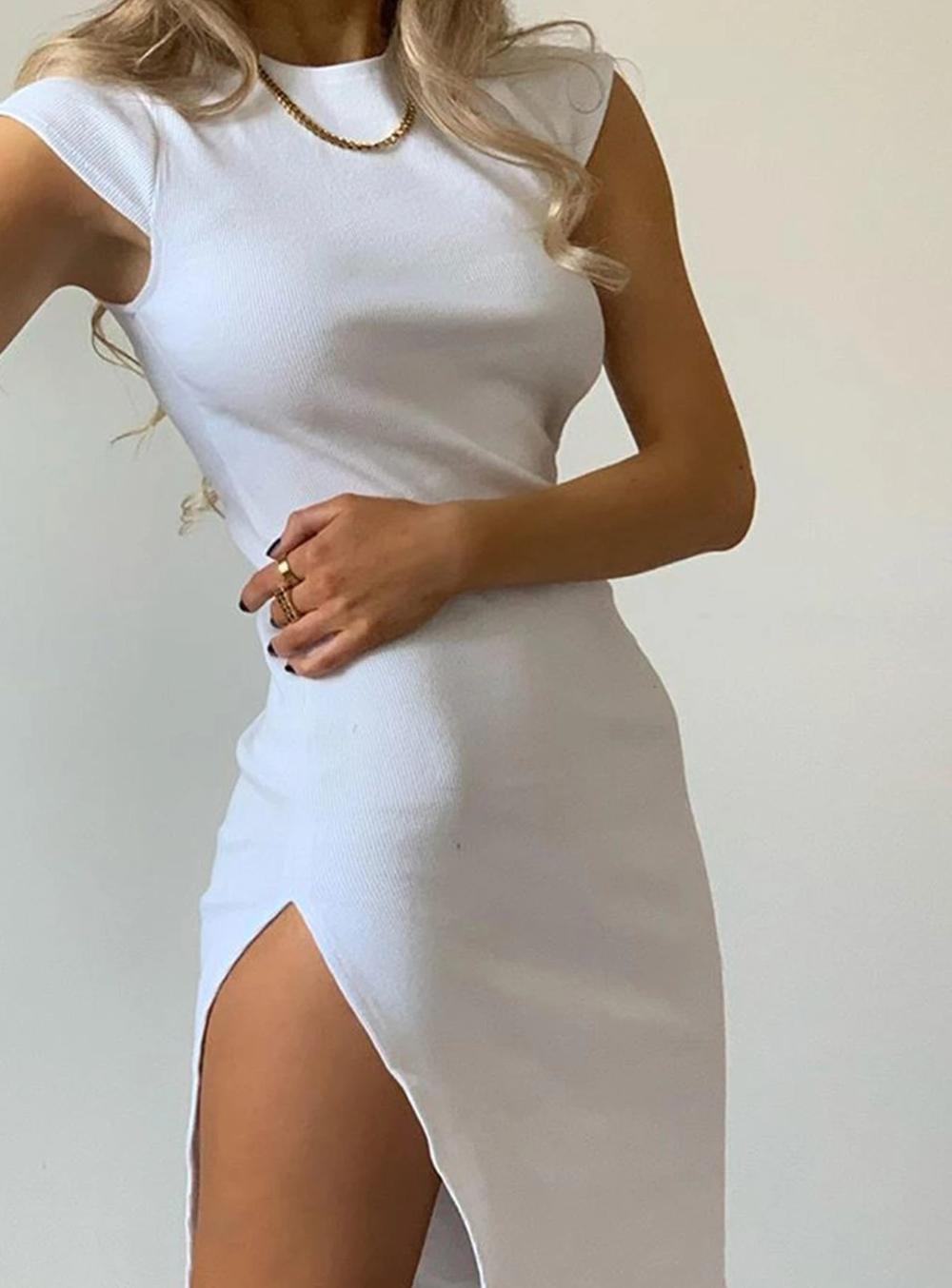 Don't Blame Me Midi Dress White