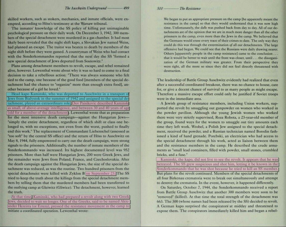 Dov Paisikovic About Kapo Kaminski Anatomy Of Auschwitz Death Camp
