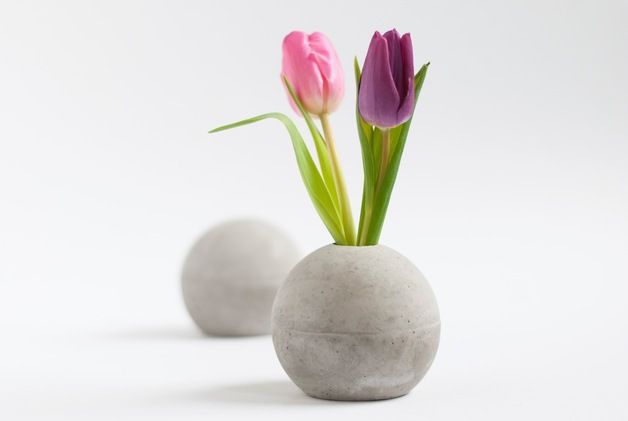 Beton Vase 1 x kugel vase aus beton s diy design and diy concrete