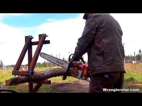 Build A Modular Firewood Holder To Cut Limbs Easier Ɗ