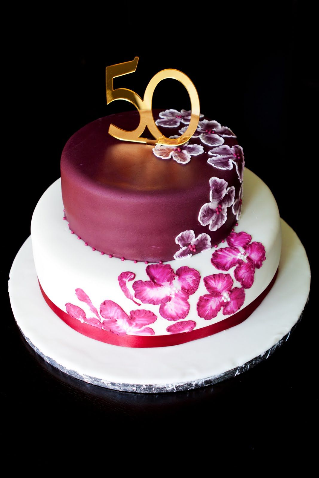 Unique Elegant Birthday Cakes Custom Cake Elegant Design 50th