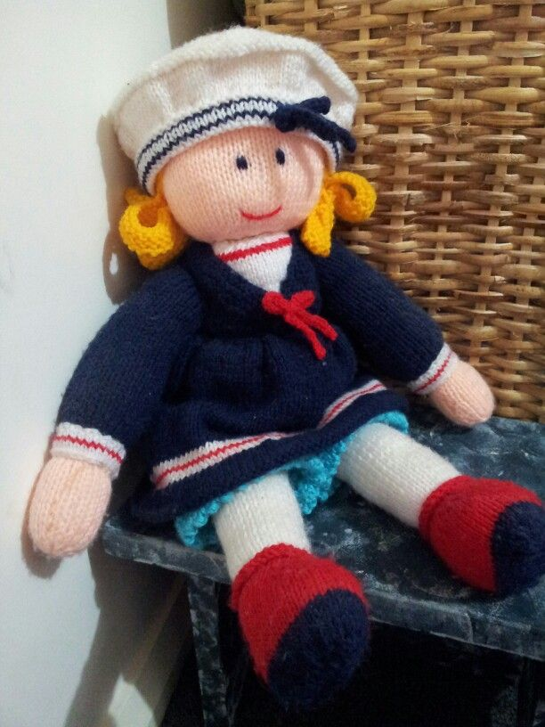 Knitting Patterns Toys Jean Greenhowe : Sailor girl pattern by jean greenhowe rag dolls