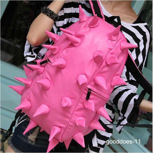 Hedgehog Spiky Spike Rivet Cool Punk Backpack