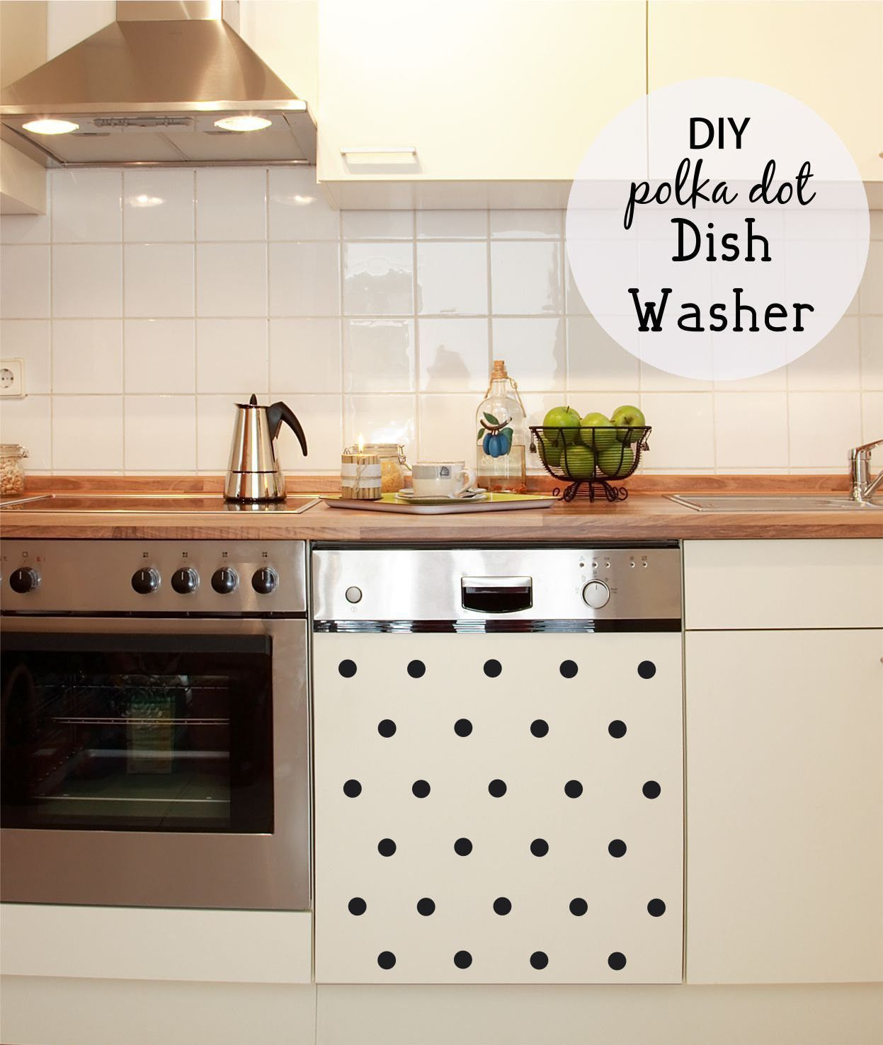 Kitchen Decals - Polka Dot Decals - Kitchen Wall Decals - Dishwasher ...