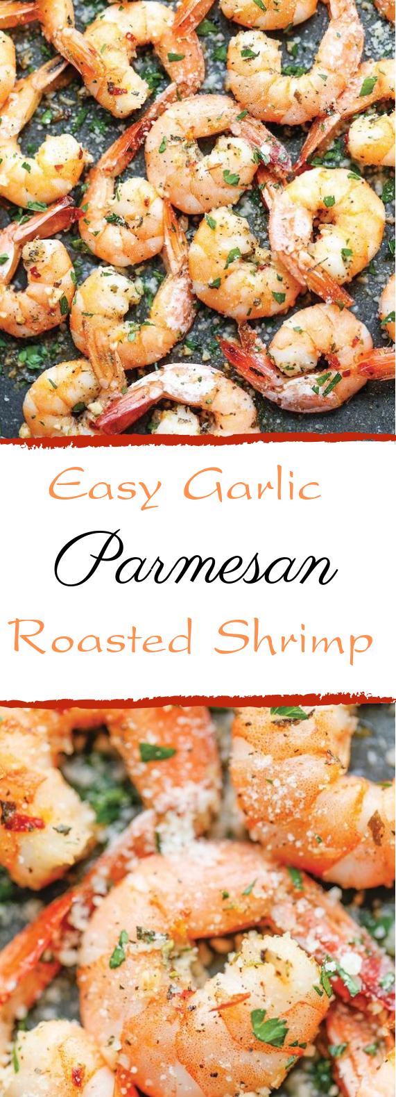 Garlic Parmesan Roasted Shrimp #easy #quickrecipe #garlicparmesanshrimp