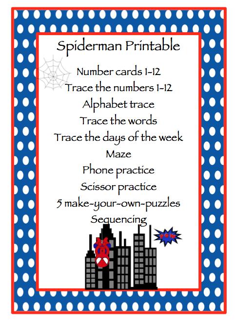 18 page free spider man printablenumber letters phone number