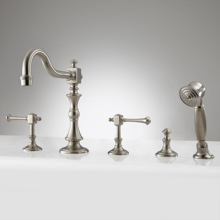 Vintage Roman Tub Faucet And Hand Shower Lever Handles The