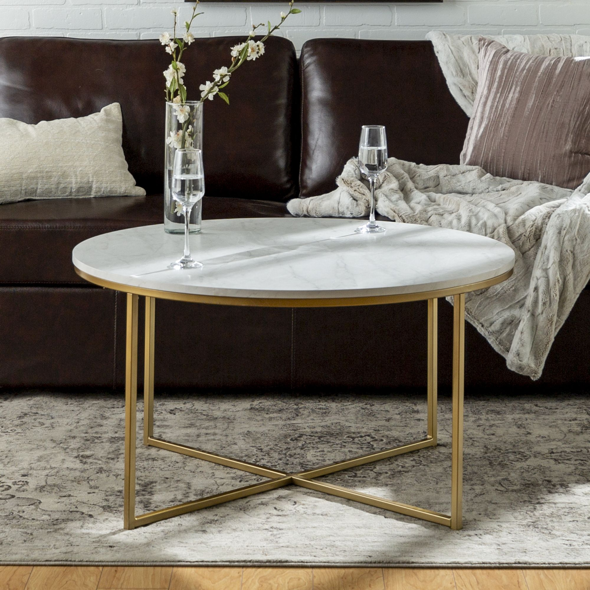 Ember Interiors Daisy Faux Marble And Gold Round Coffee Table Marble Gold Walmart Com Coffee Table Round Gold Coffee Table Round Coffee Table [ 2000 x 2000 Pixel ]