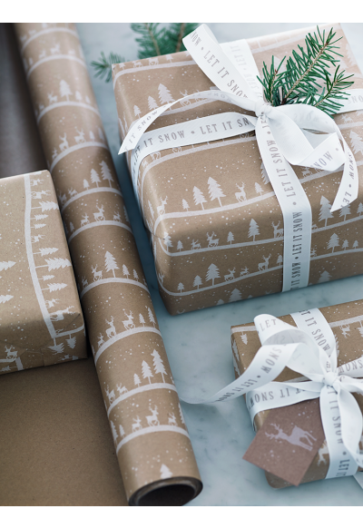 NEW Midwinter Forest Wrapping Paper