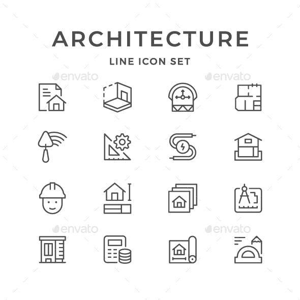 Set Line Icons of Architectural Icon design, Modelos de
