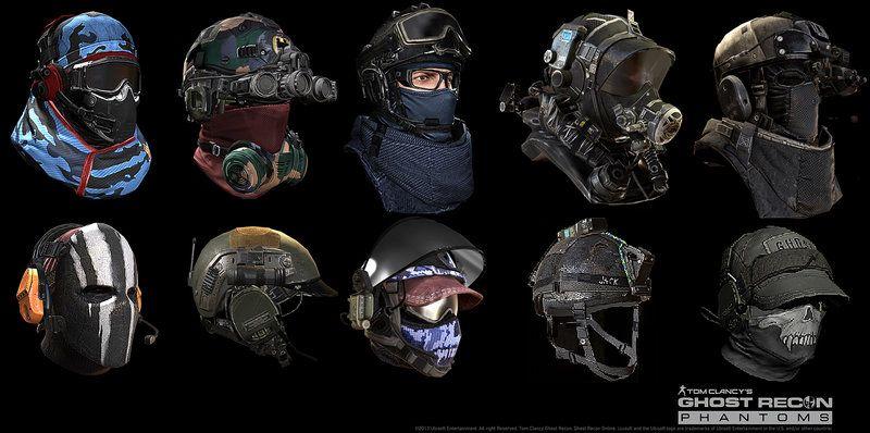 Ghost Recon Phantom-Support Class(A Fleet of Headgears) by Khan SevenFrames