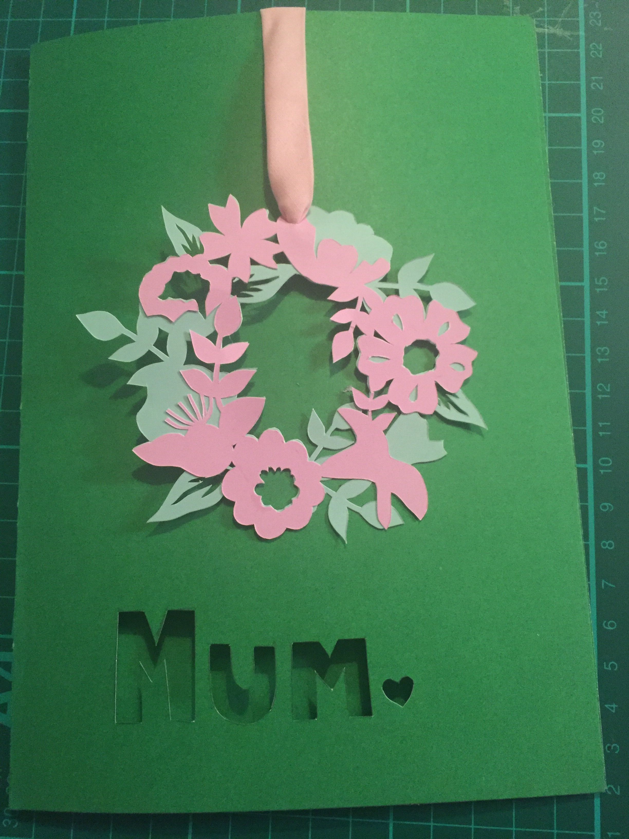 Papercut Mother's Day card