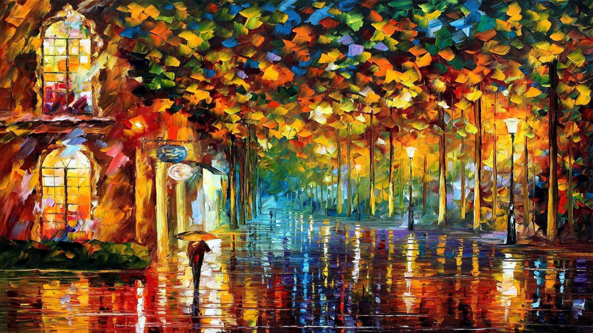 Colorful tree painting wallpaper if the link is broken for Colorful wallpaper for walls