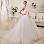 Lanting Bride® Corte en A / Princesa Tallas pequeñas / Tallas Grandes Vestido de Boda - Clásico y Atemporal / Elegante y Lujoso 2017 - $3306.99