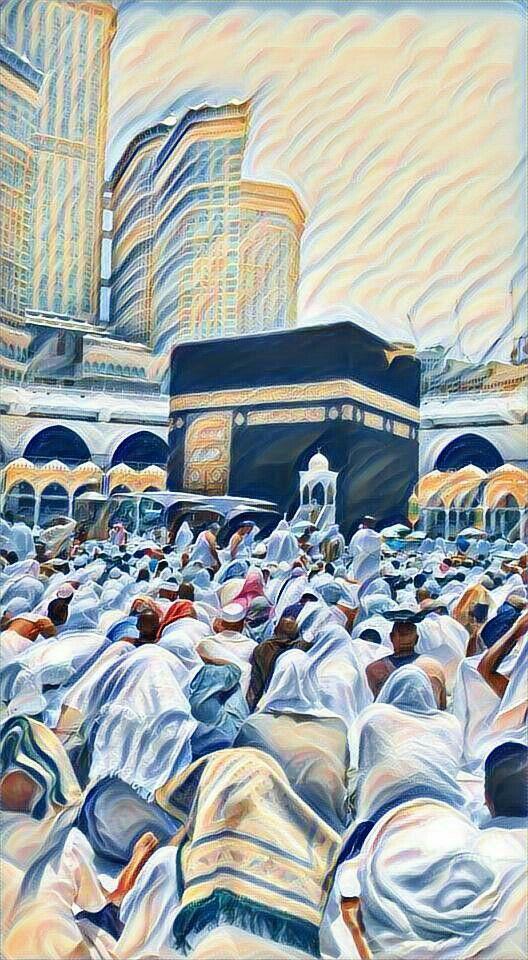 Hajj Mubarak Islamic paintings, Islamic posters, Islamic