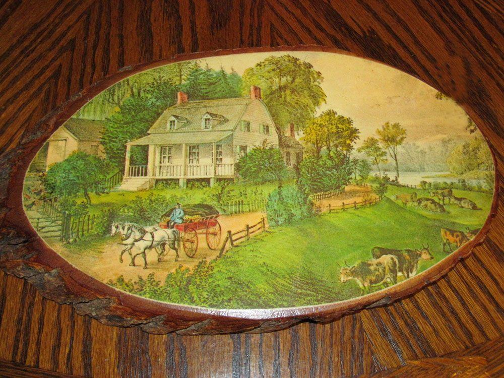 Let\'s Start A Trend! Vintage Decoupaged Wood Wall Art | Vintage ...