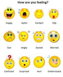 Feelings Chart Faces