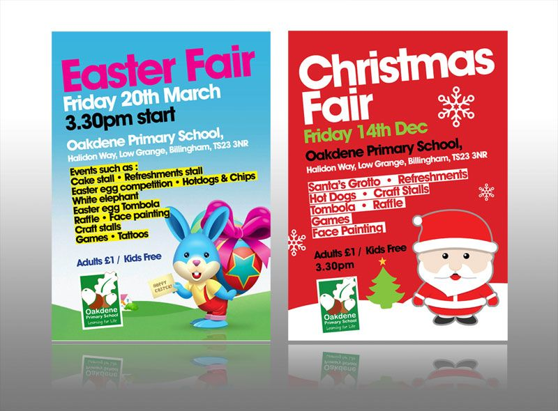 school #primary leaflet design event easter #christmas leaflet - flyer samples for an event