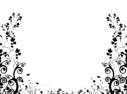 Borders Designs Black And White Design Black And White Pattern Border Background De In 2020 Black And White Flower Tattoo White Flower Tattoos Floral Pattern Wallpaper