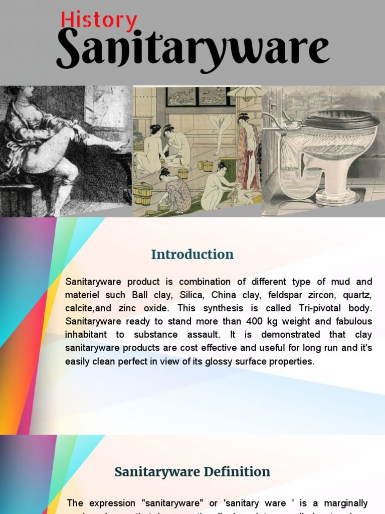 sanitary ware is a marginally equivocal one that in exceptionally ...