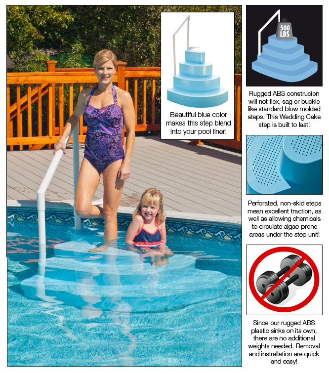 Wedding Cake Pool Steps For Aboveground Swimming Pools With Free Shipping