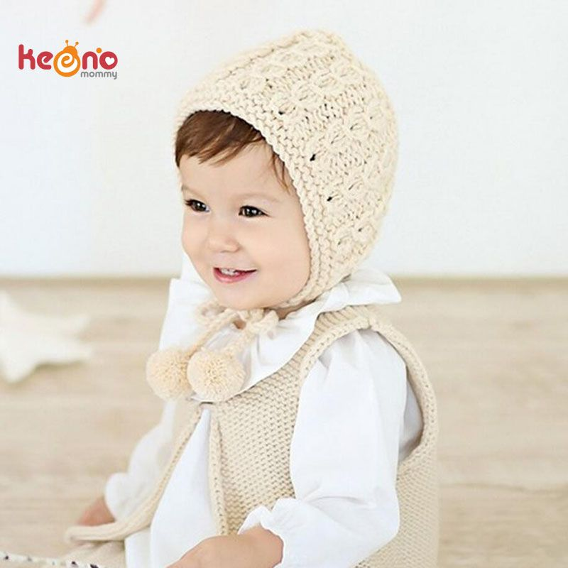 6d3362fa284 Click to Buy    Handmade Crochet Knit Baby Girl Hat Winter Earflaps Baby