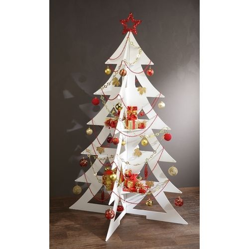 D co maison grand sapin de no l bois design original 1 6 for Maison de noel pas cher