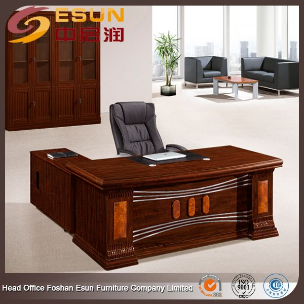 Antique Office Furniture Executive Luxury Wood CEO Office Desk