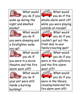 Fire Safety What Would You Do If  Social Studies