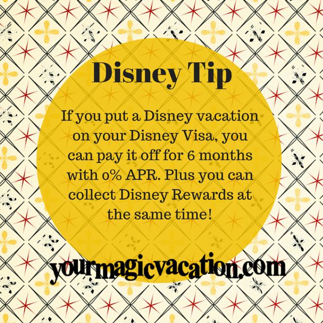 If You Put A Disney Vacation On Your Disney Visa, You Can