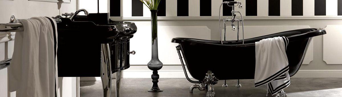 Elegante schwarze badkeramik der serie oxford armaturen retrobad nostalgie faucets - Schwarze armaturen ...