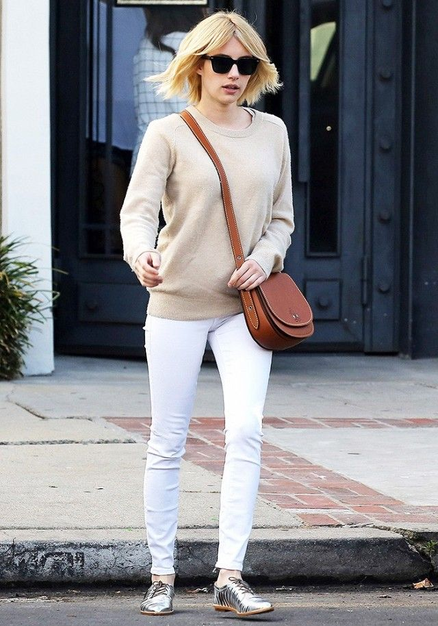 Emma Roberts Wore Skinny Jeans in the Freshest Way | WhoWhatWear