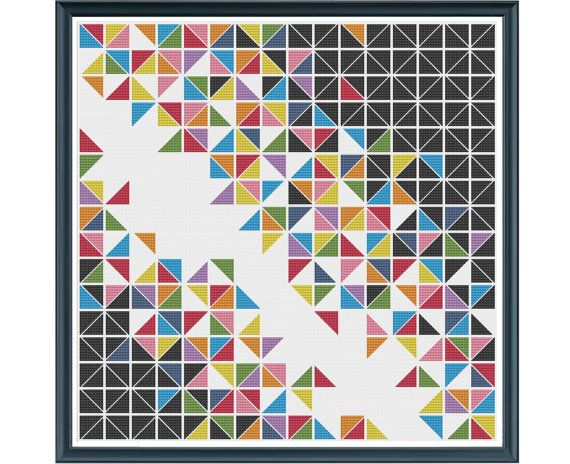 Abstract Textures 2 ~ Art Patterns ~ DIY Counted Cross Stitch Pattern