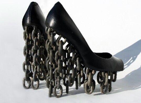 Ugliest wedges ever. | Crazy high heels