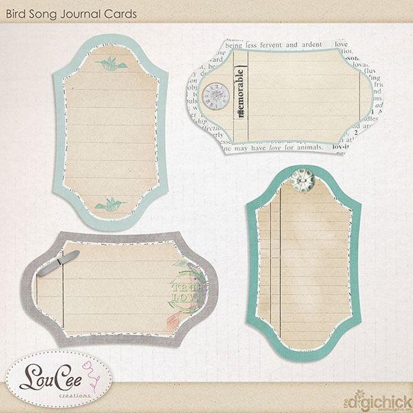 FREE  Bird Song Journals Cards