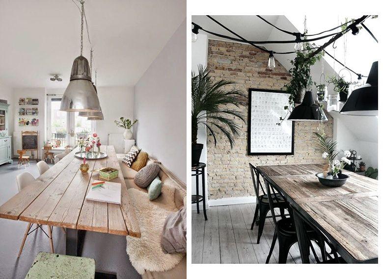 Réussir son coin salle à manger Lofts, Living rooms and Room - table salle a manger loft