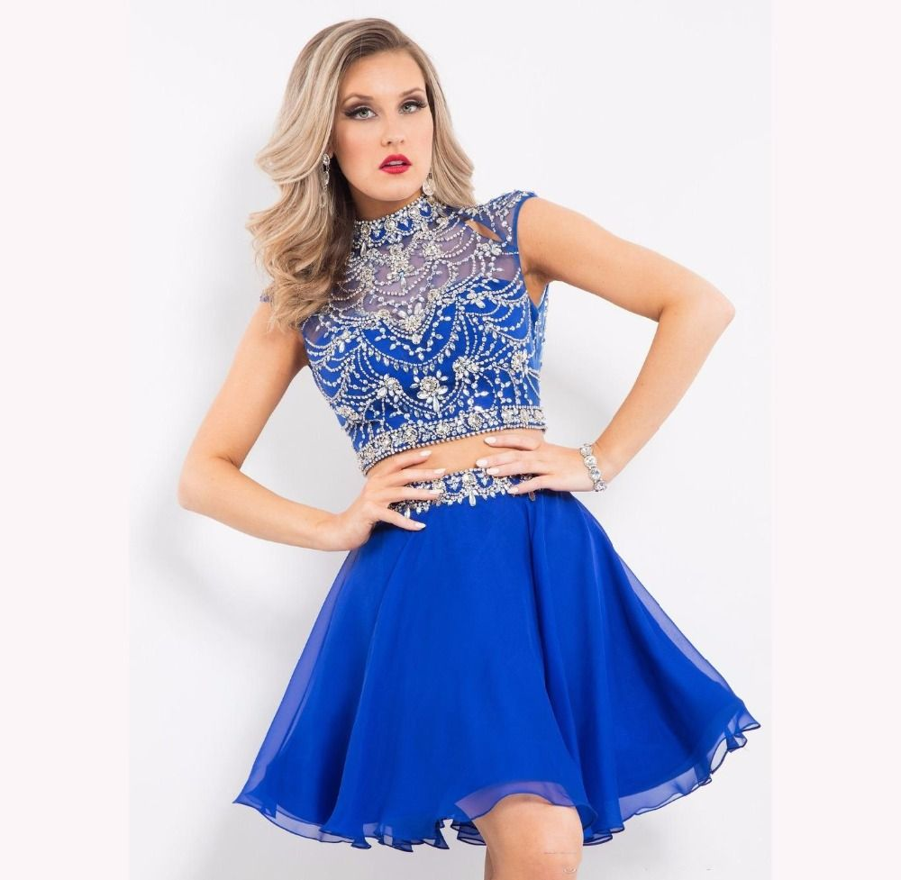 2 piece prom dresses cheap