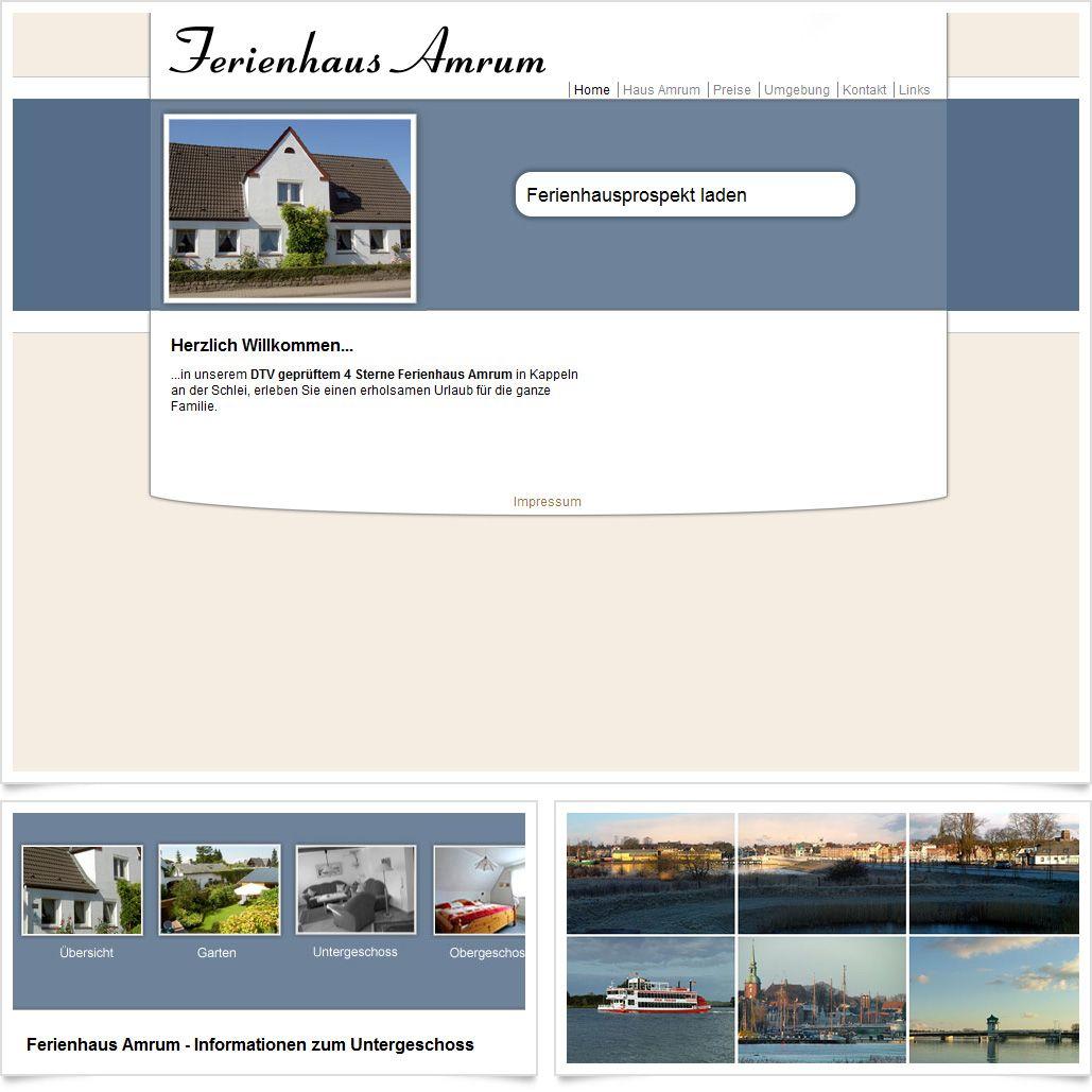 Internetseite Ferienhaus Amrum / Leistungen: Technische Umsetzung ...