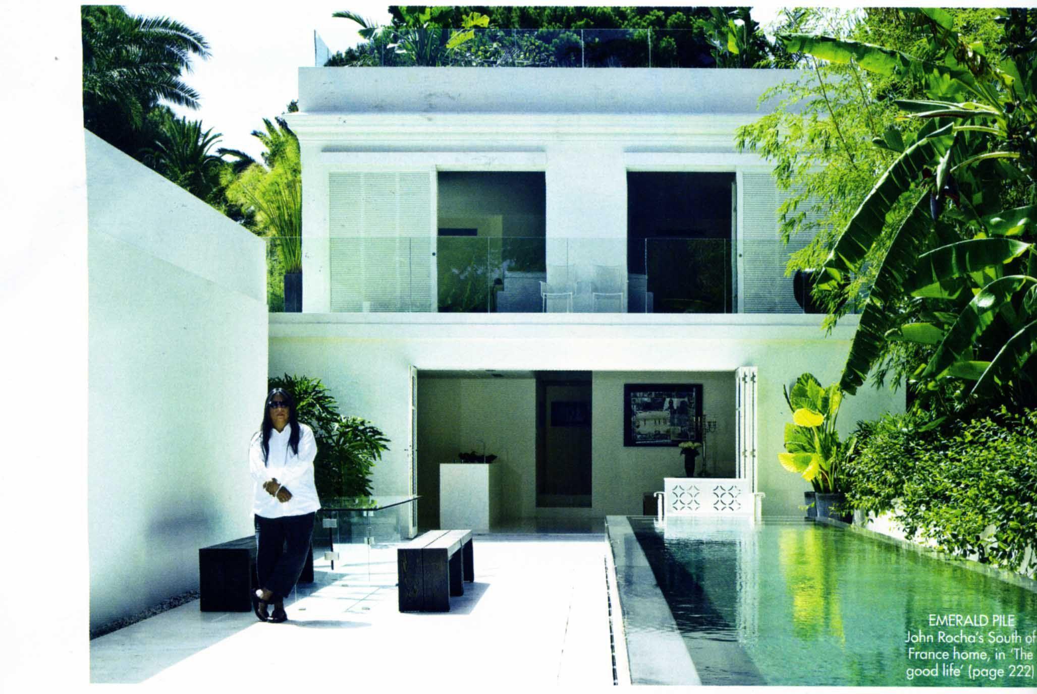 John Rocha\'s Cote d\'Azur home, Harper\'s Bazaar, April 2008 ...