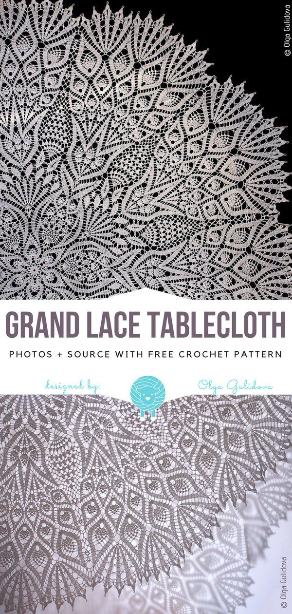 Grand Lace Tablecloth Free Crochet Pattern