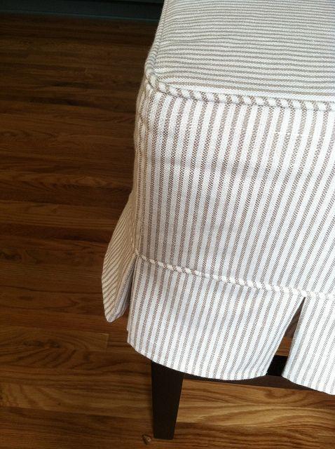 Create Live Design Custom Box Pleat Slipcover Ticking