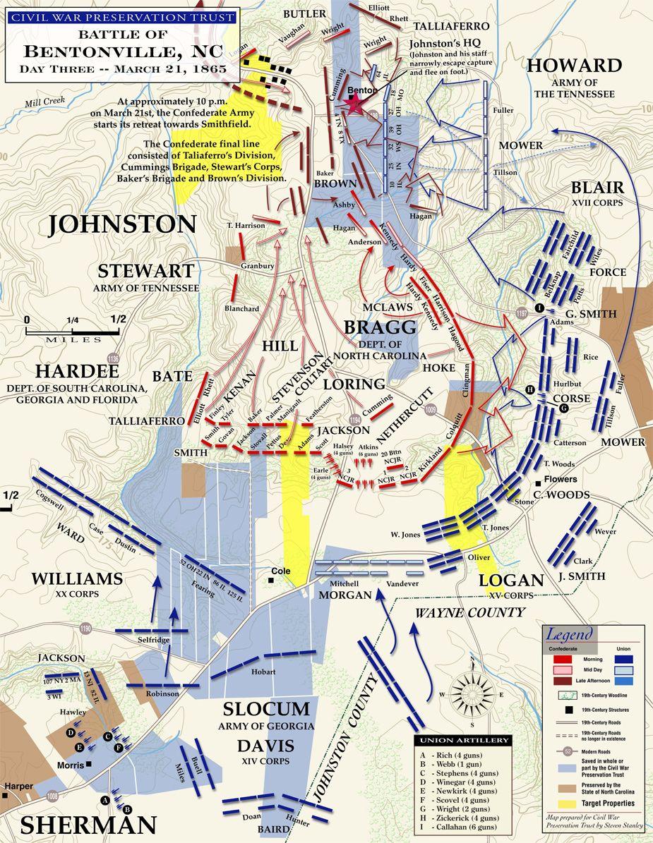 Battle of Bentonville 21 March 1865 Civil War Carolinas Campaign