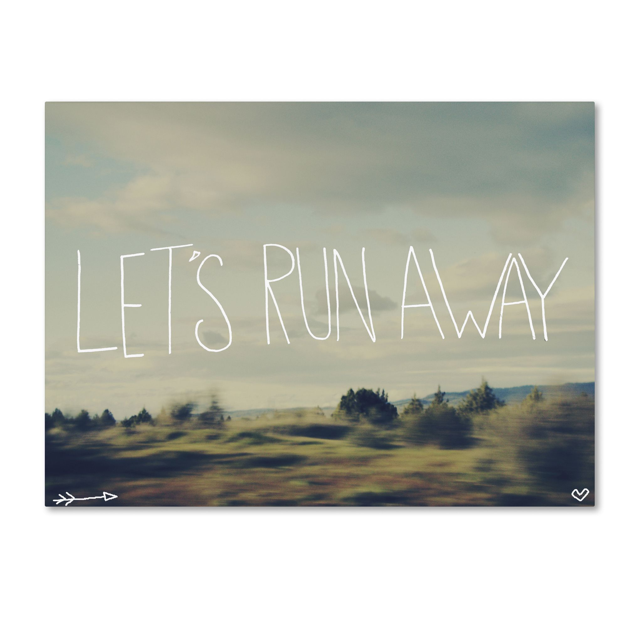 Leah Flores Lets Run Away Canvas Art by Trademark Fine Art