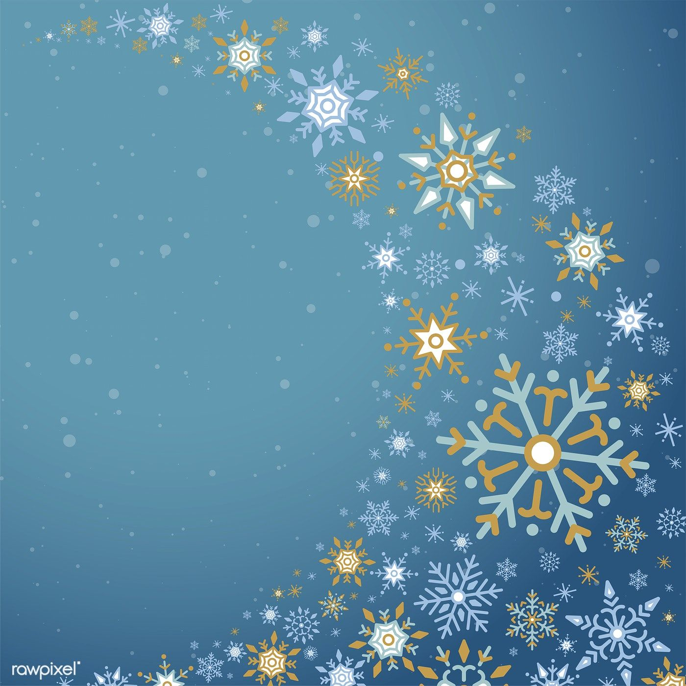 Blue Christmas Winter Holiday Background With Snowflake Vector Free Image By Rawpixel Com Holiday Background Blue Christmas Winter Wallpaper
