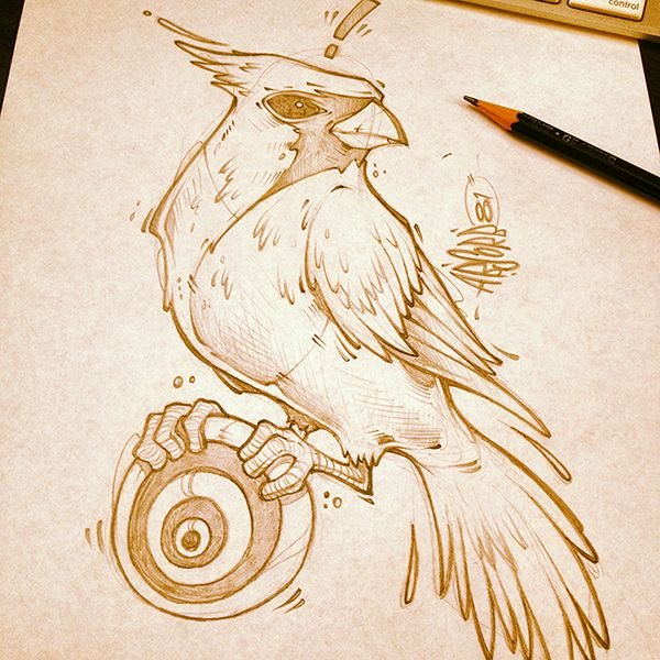 Stunning sketches on paper by Craig Patterson
