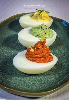Duivels lekkere eitjes #hapjesvoorfeestjes Drie heerlijke gevulde eitjes die eigenlijk niet kunnen ontbreken bij een feestje. #hapjesvoorfeestjes Duivels lekkere eitjes #hapjesvoorfeestjes Drie heerlijke gevulde eitjes die eigenlijk niet kunnen ontbreken bij een feestje. #hapjesvoorfeestjes